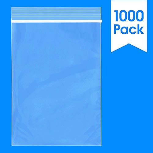 1000 Count - 3 X 4, 2 Mil Clear Plastic Reclosable Zip Poly Bags with Resealable Lock Seal Zipper by Spartan Industrial (More Sizes Available)