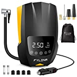FYLINA Auto Air Compressor tire inflator,12V DC Portable Air Compressor Pump, Digital Air Pump with Led Lighting,Auto Tire Pump for Car Bicycle, Motorcycle, Basketball and Other Inflatables