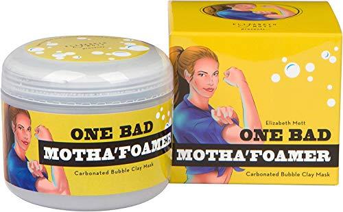 Carbonated Bubble Clay Mask (Cruelty Free) One Bad Motha'foamer bubble mask By Elizabeth Mott Net Wt. 100g / 3.53oz