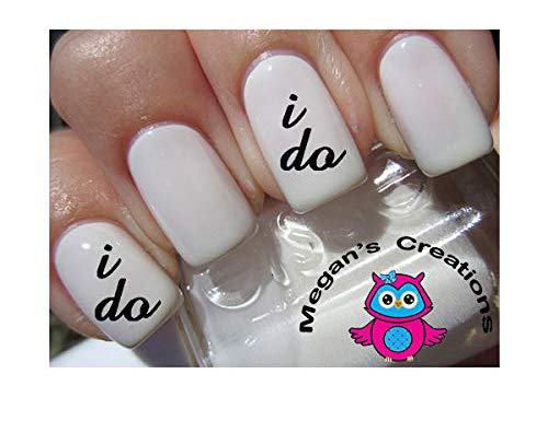 I DO Wedding Lower case nail decals Nail Art Decals