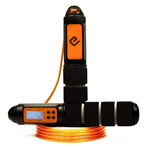 Eqofit® Springseil Speed Rope mit Zähler [Sprünge,...
