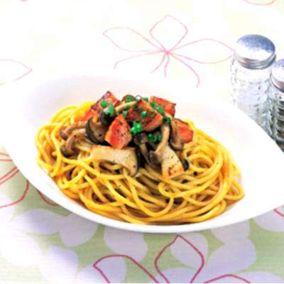 シマダヤ「ゆであげ生パスタ」(冷凍) もちもち太麺2.2mmタイプ 220g×5食入×8袋 (計40食)