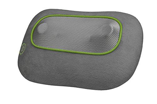 Ecomed MC-80E Shiatsu-Massagekissen, Wärmefunktion, 4 rotierende Massageköpfe, für Rücken, Nacken, Beinpartie mit Überhitzungsschutz