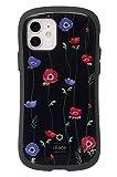 iFace First Class Flowers iPhone 12/12 Pro ケース [アネモネ/ブラック]