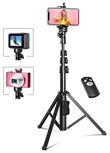 Bovon Trépied Smartphone, 133cm Extensible Perche Selfie Trépied Stable...