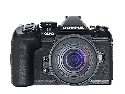 Kit fotocamera Olympus OM-D E-M1 Mark II con sistema Micro Quattro Terzi, incl. obiettivo M.Zuiko Digital ED 12-45mm F4 PRO, sensore da 20 MP, potente messa a fuoco automatica, video 4K, Wi-Fi, nero