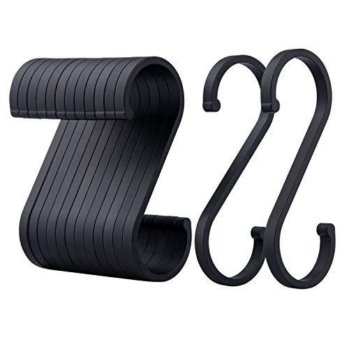 ACMETOP S Hooks, 12 Pack Aluminum S Shaped Hooks, Matte Finish S...