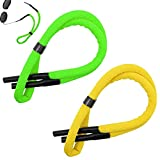 2 Packs Glasses Straps for Sports Adjustable Water Sports Safety Holder Floating Retainer Strap Light Swimming Surfing Water Park Glasses Straps Yellow&Green