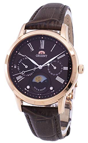Orient Sun and Moon Damen-Armbanduhr RA-KA0002Y10B, braunes Sunray-Zifferblatt