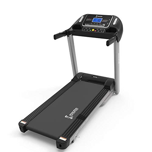 Cockatoo CTM-101 Stainless-Steel Manual Incline 2.5 HP - 5 HP Peak DC Motorised Treadmill for Home Use, Free Installation Assistance, Others (Black) Iso Certified
