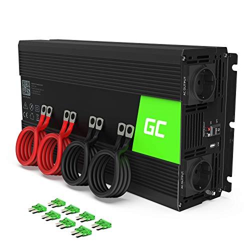 Green Cell® 3000W/6000W 12V 220V/230V Convertisseur Pur Sinus de Tension Volts Voiture Solaire...