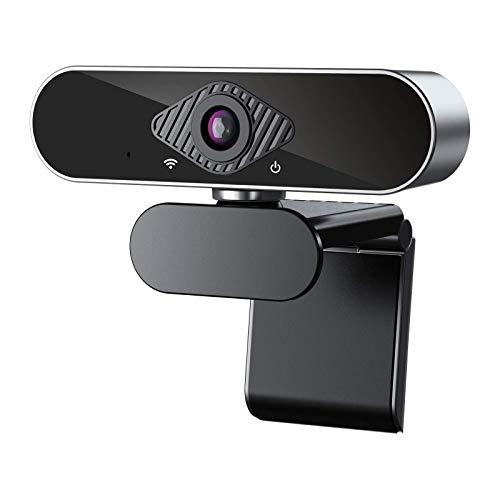 ELCM 1080P Webcam Full HD, Microfono Incorporato e Copertura Telecamera Plug And Play USB Fotocamera Web per Videochiamate, Studio, Conferenza, Registrazione, Giochi Compatibile con PC Windows Mac