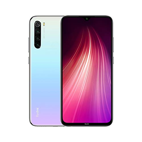 "Xiaomi Redmi Note 8 - Smartphone de 6.3"" FHD+ (Snapdragon 665 Octa Core, 4 GB RAM, 128 GB ROM, cámara trasera cuádruple de 48 MP, batería de 4000 mAh) Moonlight White [UK Version]"
