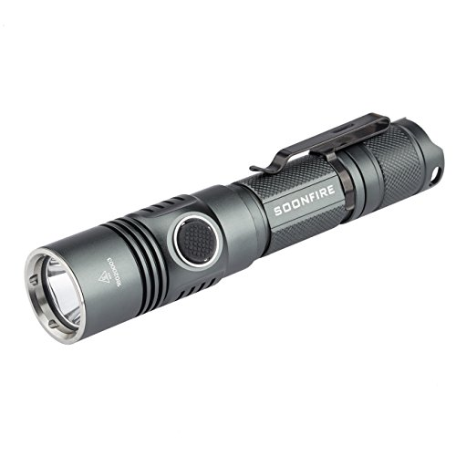 Cree XP-L LED 1050 Lumens Tactical Flashlight,Soonfire DS30 USB...