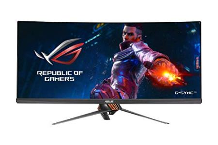 ASUS ROG Swift PG348Q 34' Gaming Monitor Curved Ultra-Wide 3440x1440 100Hz IPS DisplayPort USB Eye Care G-SYNC