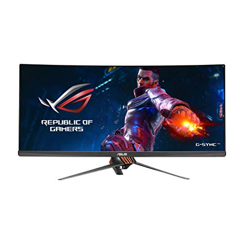 ASUS ROG Swift PG348Q 34' Gaming Monitor Curved Ultra-Wide 3440x1440 100Hz IPS...