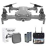 le-idea 22 Drone Plegable GPS con Camara 2K Profesional, 120º Gran Angular, 5GHz WiFi FPV...