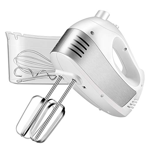 Hand Mixer Electric, Cusinaid 5-Speed Hand Mixer with Turbo...