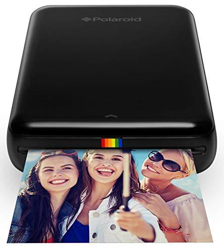 Polaroid Zip - Impresora móvil, Bluetooth, Nfc, micro USB, tecnología Zink Zero Ink, 5 x 7.6 cm, compatible con iOS y Android, negro, 2.2 x 7.4 x 12 cm