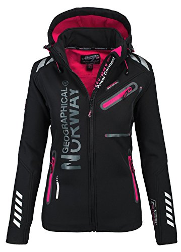 Geographical Norway Veste Softshell pour femme - Noir - Small