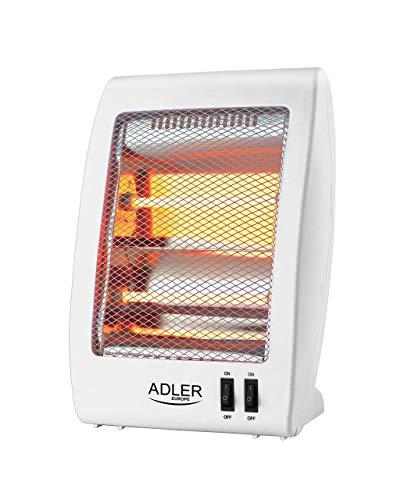 Adler AS7709 Estufa de Cuarzo radiador halogeno, plastico, Blanco,...