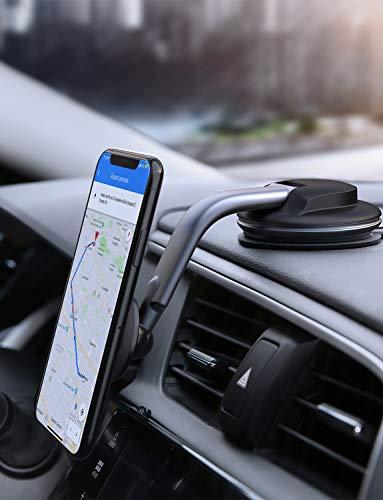 AUKEY Porta Cellulare Auto Magnetico 360 Gradi di Rotazione Cruscotto Supporto Smartphone Auto...