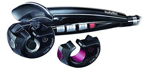 Babyliss C1300E Curl Secret Ionic 2 Arricciacapelli Automatico, 2 Testine Intercambiabili, Nero