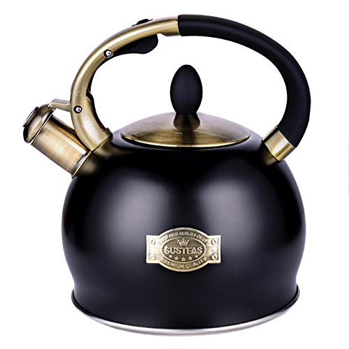 SUSTEAS Stove Top Whistling Tea Kettle-Surgical Stainless...