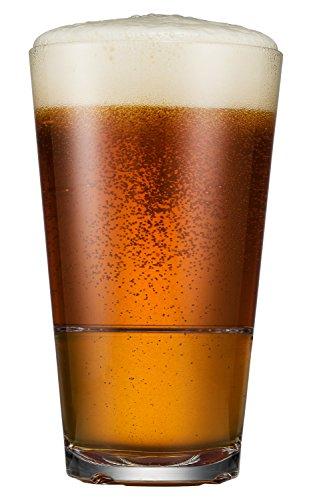 Drinique CAL-PT-CLR-4 - Vasos de cerveza de tritan irrompibles (473 ml), Casual, Transparente, 16 oz (Set of 4), 1
