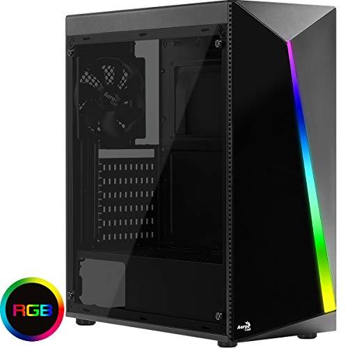 Aerocool Shard A - V1 Acryl Glass Case Middle Tower Black - RGB