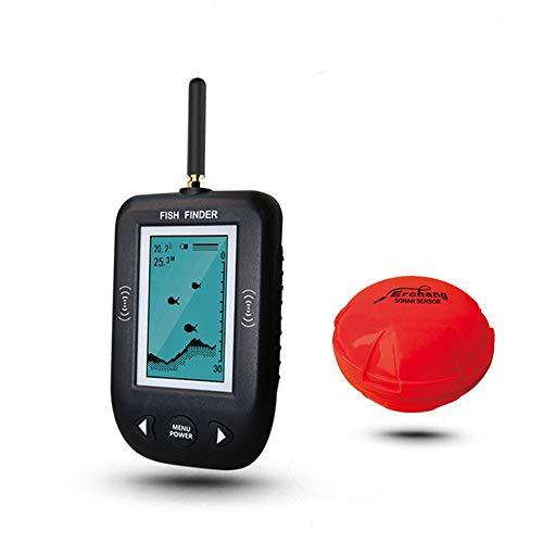 JSX Sensore Portatile del Sonar del trasduttore del cercatore dei Pesci di profondit di 0.6-36M, ecoscandaglio tenuto in Mano con Il trasduttore del sensore del Sonar e Lo Schermo LCD