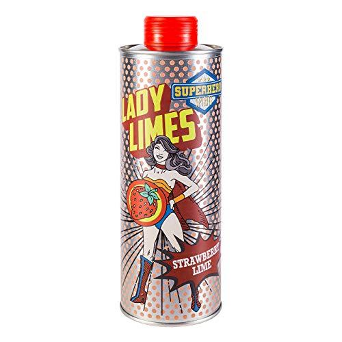 Superhero Spirits Lady Limes - Erdbeer-Limes mit erfrischender Limette I 500ml I 20% vol. I Premium Erdbeerlikör I stylische Metall Dose