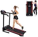 Health & Fitness WSF65-07 Folding Treadmill with LED Display and Pulse Monitor, Cup Holders, Shock Absorption and Incline (Red)