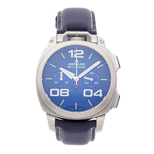 Anonimo Militare Herren Uhr analog Automatik mit Leder Armband AM112001003A03