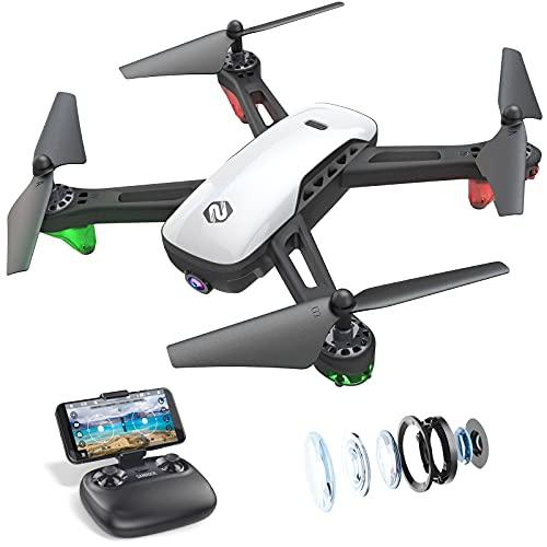 SANROCK U52 Drone con Telecamera 1080P HD Drone Professionale, WiFi Video Diretta FPV Droni Telecomandati per Principianti, Mantenimento dell'altitudine, Modalit Senza Testa, Capovolgimento 3D