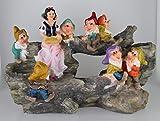 Design Schneewittchen mit 7 Zwerge 13020 Zwerg 32 cm Hoch Deko Garten Gartenzwerg Figuren Dekoration verschiedene Design - 5