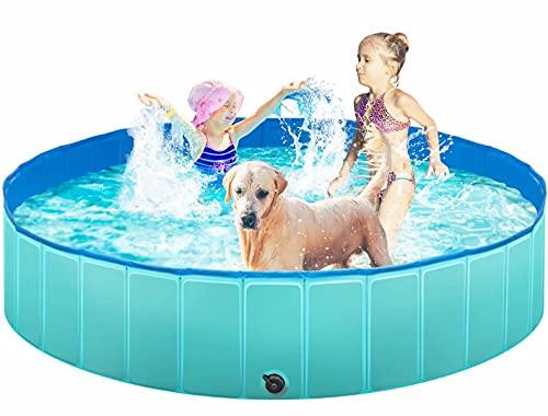 TREYWELL Dog Pool, 65'' Pet Swimming Pool for...