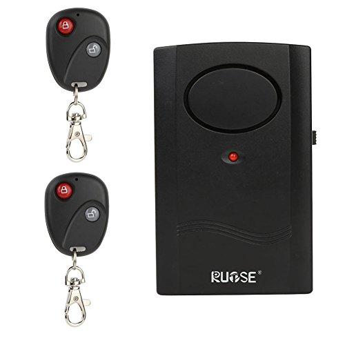 Rupse Motorrad Alarmanlage mit 2 Fernbedienung, 120 db Vibrationsalarm Hohe empfindlichkeit für Elektroautos, Motorräder, Autos, Drinnen und draußen