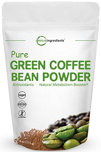 Maximum Strength Pure Green Coffee Bean Extract, 4 Ounce, Super Green Coffee Bean Fat Burn Supplement, Supports Metabolism and Weight Management, No GMOs and Vegan Friendly