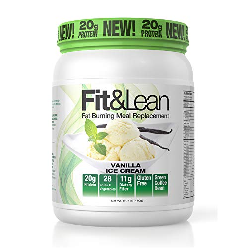 Fit & Lean Fat Burning Meal Replacement, Vanilla, 0.97 lb 1