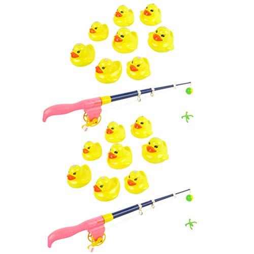 Kylewo 2 Set Giocattolo da Bagno per Bambini Giocattolo da Pesca Gioco educativo, Gioco di Ruolo per Bambini Pesca Set di Giochi