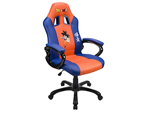 Siege Gaming Baquet DBZ avec Assise Ergonomique Dragon Ball Z Super San Goku - orange/bleu