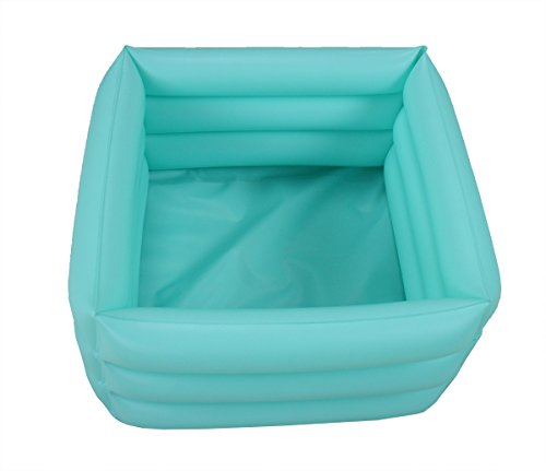 ObboMed HB-1700N New and Handy air Valve Foldable Portable, Folding Inflatable Portable Travel Spa Foot Care Bath Basin –Inflated Size: 16.5(L) x 16.5(W) x 7.0(H) inches – 4.2 Gallons Capacity