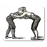 Yilan Gaming Mouse Pad Wrestlers Vintage gravé Dictionnaire Encyclopedique Universel par...