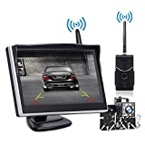 Backup Camera and Monitor Wireless, Reverse Camera TOGUARD 5 inch Rear View Camera with IP69 Waterproof Vehicle Backup Cameras for Trucks/RV/Cars/SUV/Van/Pickup Supports Super Night Vision with 8 LED