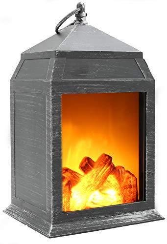 Kaminlaterne Feuerlampe Led Kamin Led Flamme Schreibtischlampe Wohnzimmer Lampe Vintage