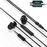 Tantu Sleep Headphones, Noise Isolating, in-Ear, Earbuds Headphones with Comfortable Silicone HD Stereo Speakers Perfect for Sleeping, Sports, Air Travel, Meditation and Relaxation