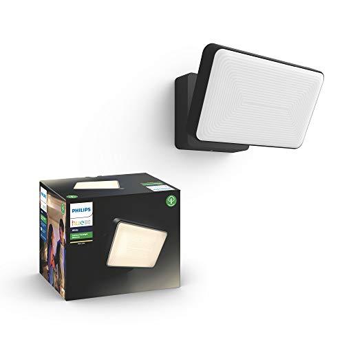 Philips Hue Welcome Proyector exterior, luz blanca cálida regulable, compatible con Amazon Alexa, Apple HomeKit y Google Assistant