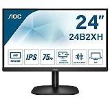 AOC Monitor 24B2XH- 24' Full HD, 75 Hz, IPS, Flickerfree, 1920x1080, 250 cd/m, D-SUB, HDMI
