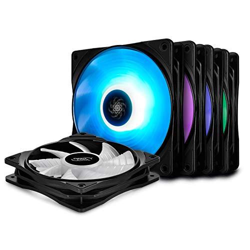 DEEP COOL RF120 Ventilador para Ordenador/Refrigerador, 5x120mm RGB...